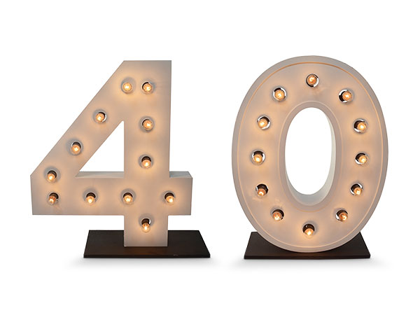 Giant Light up numbers 40