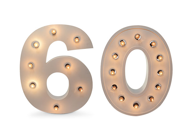 Giant Light up numbers 60