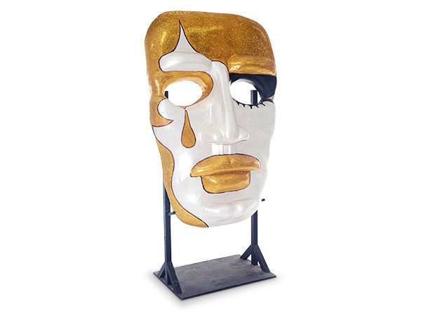 Giant Masquerade Masks gold and white