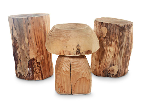 Mushroom and Log Seating