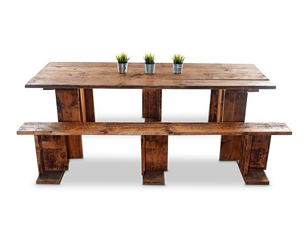 Reclaimed Scaffold BoardTables and benches