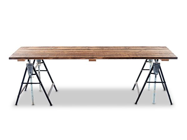 Reclaimed Scaffold Board Trestle Tables