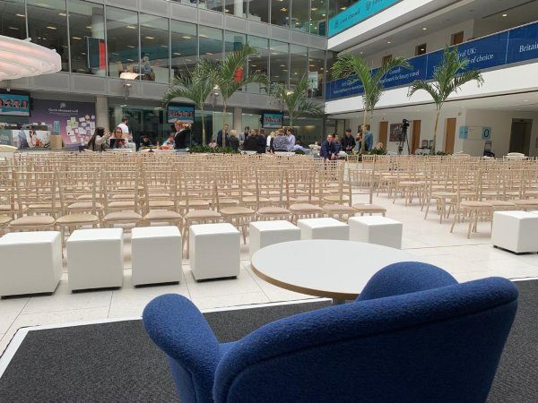 White Cube Seat to hire for event