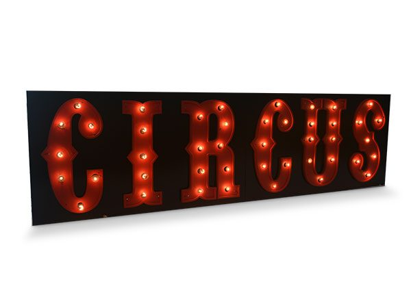 giant light up circus sign