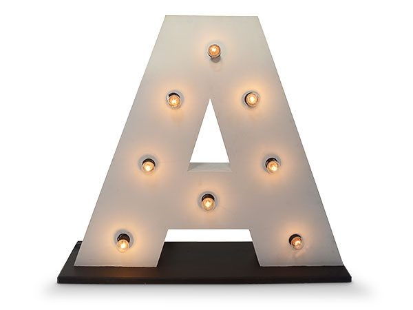 Giant Light up letter A