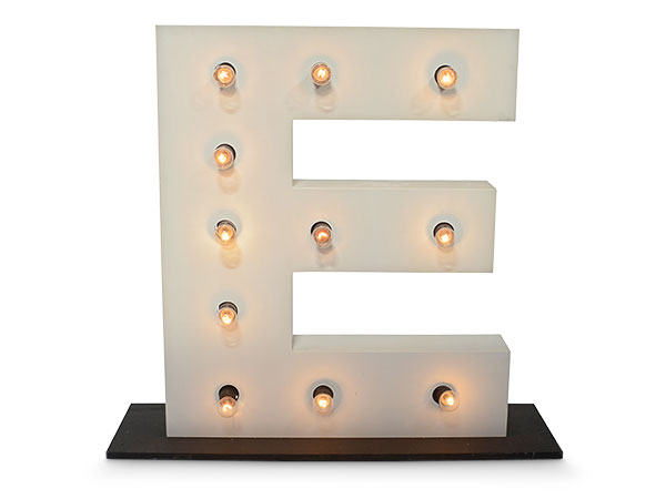 Giant Light up letter E