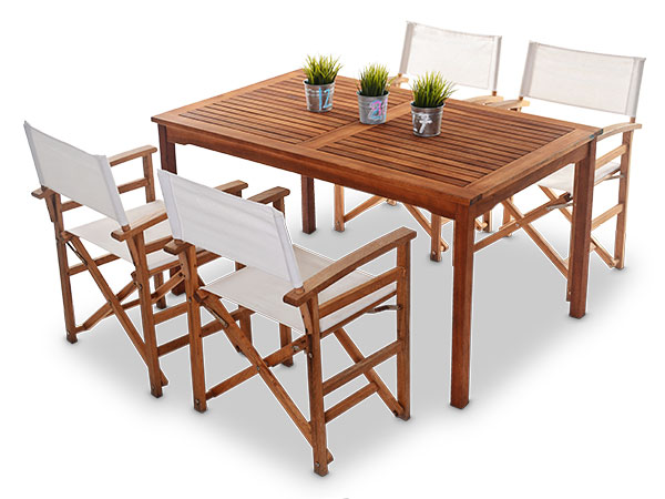 outdoor wooden table and chairs 2