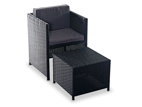 Rattan Chair and stool