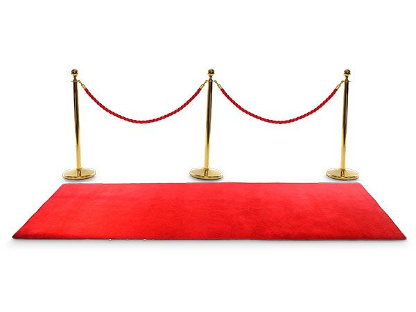 red carpet rope and gold poles