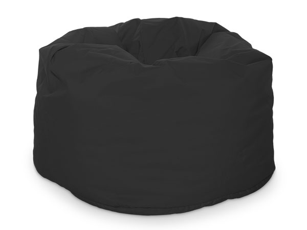 round beanbag seating black