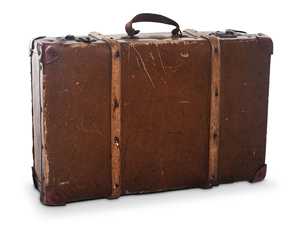 vintage suitcases brown