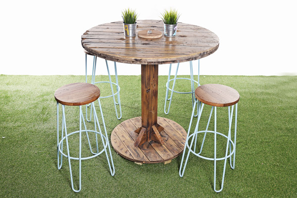Cable Reel Poseur Table