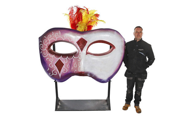 Giant Rio Themed Mask Prop 1