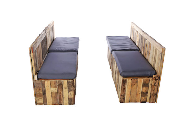 Pallet Sofa Banks For Event Hire - Booth Style