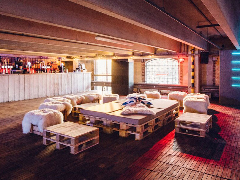 Skylight winter theme inside