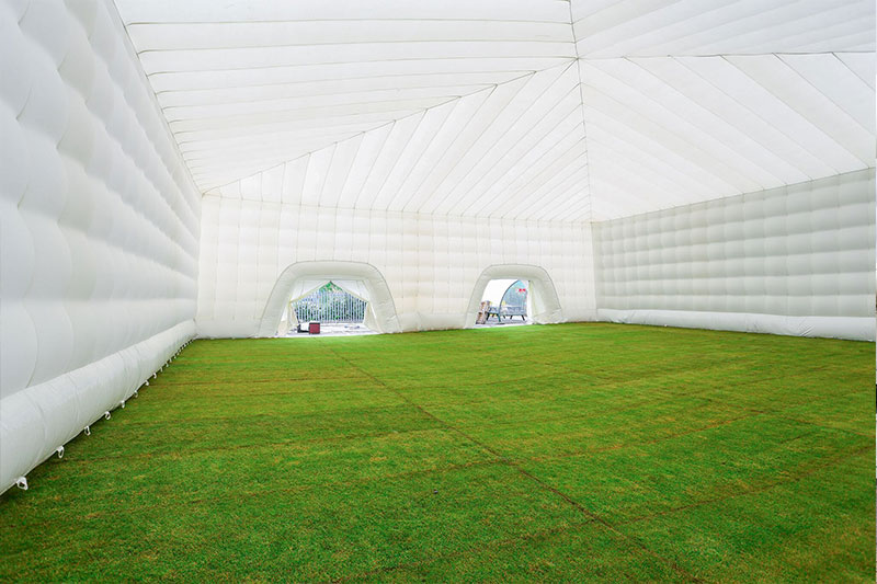 Inflatable marquee inside