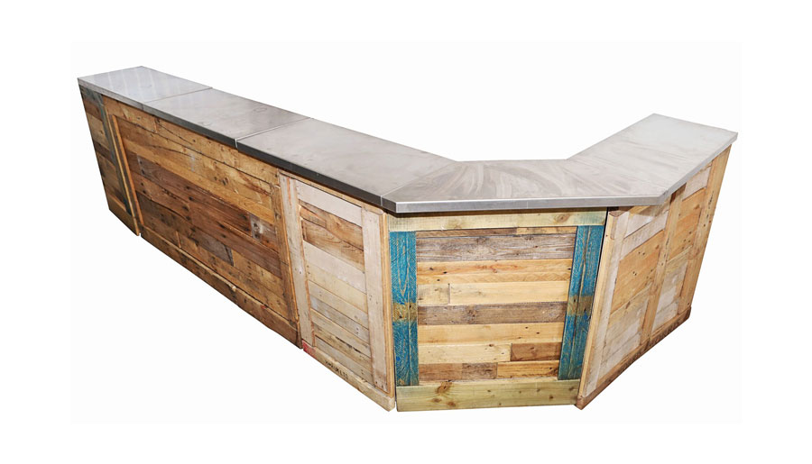 l-shape pallet bar hire