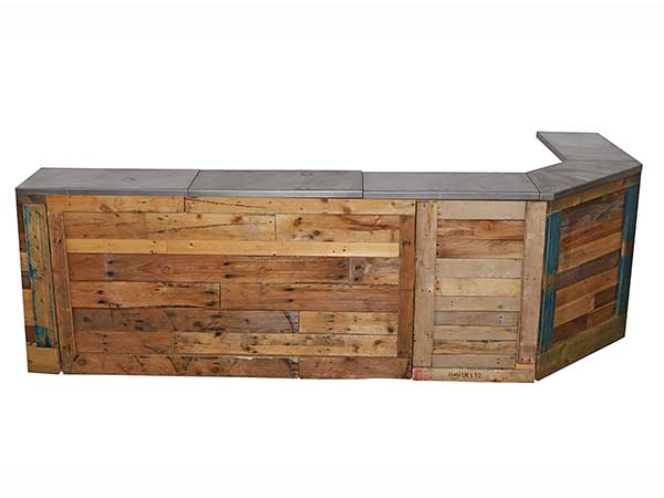 L shape pallet bar