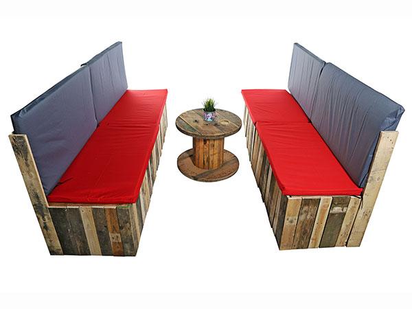 pallet bank seating