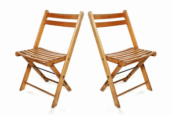 Vintage Folding Chairs For Hire