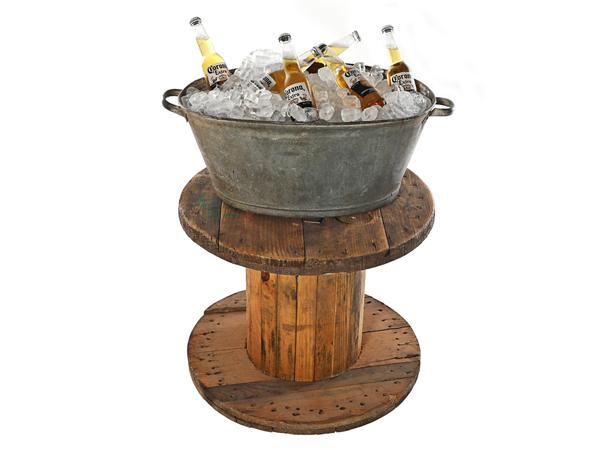 Vintage Galvanised Drinks Bucket