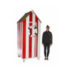 Small Stripey Beach Hut For Hire