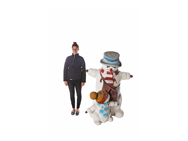 Giant Snowman and Child Prop