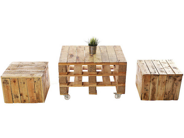 Pallet Coffee Table and Cubes