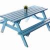 Light Blue Picnic Bench