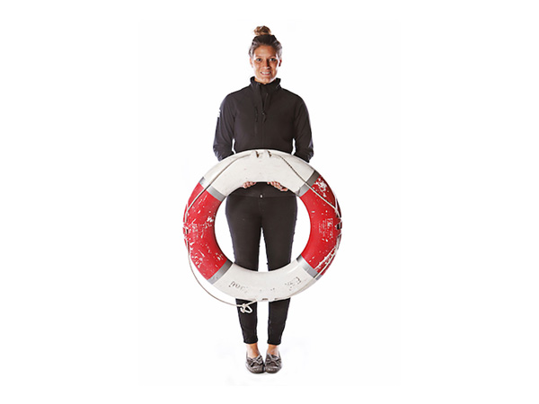 Red and White Life Preserver