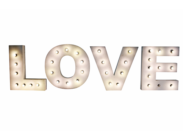 Giant Light Up Love Letters