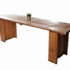 3 plank reclaimed scaffold board table for hire