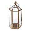 Brass Hexagonal Lantern