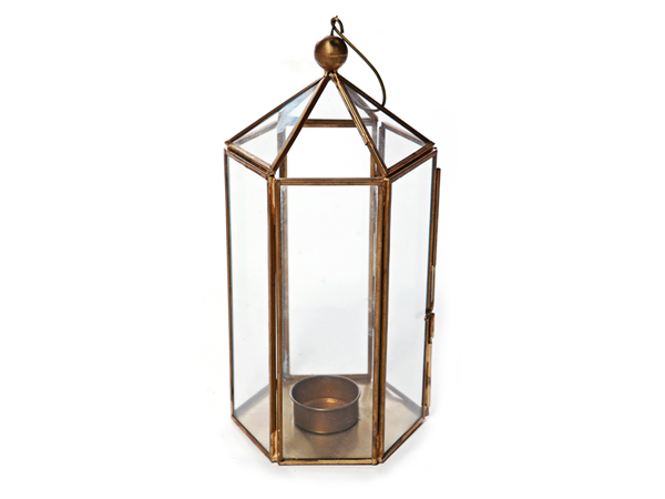 Brass Hexagonal Lantern