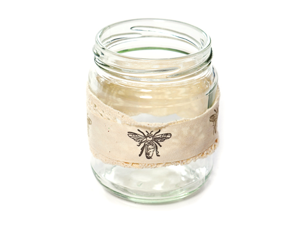 Jam Jar with butterfly detail