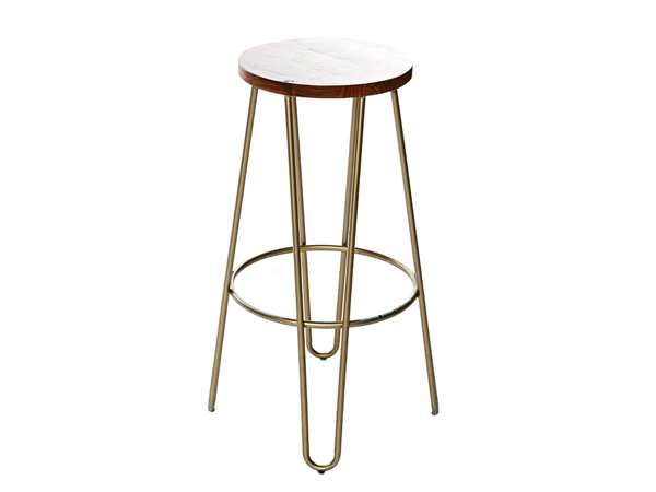 Rose Gold Hairpin Stool