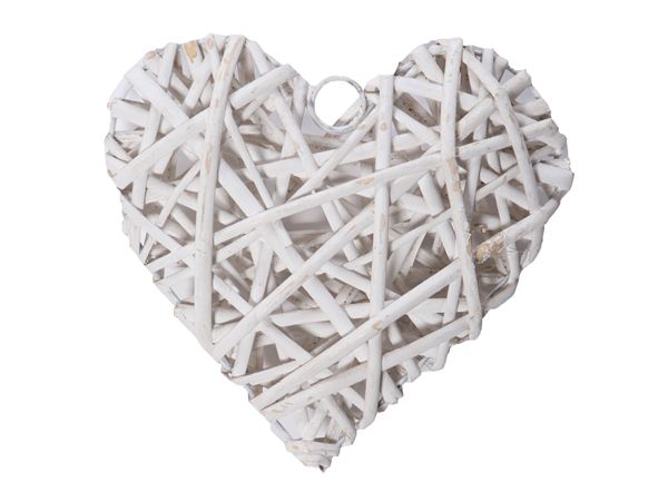 Wicker heart - event prop hire