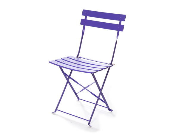 Purple Bistro Chair for hire