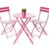 Pink Bistro Table and Chair Set For Hire