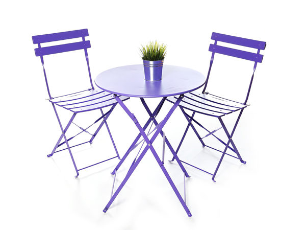 Purple Bistro Table and Chair Set For Hire