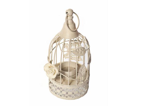 Small White Tea Light Lantern For Hire