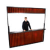 Street Food Fascia - Corrugated Red Steel