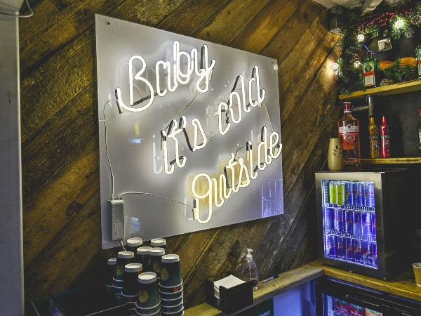 Baby Its Cold Outside Light Up Sign to hire