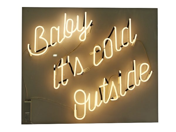 Baby Its Cold Outside Light Up Sign
